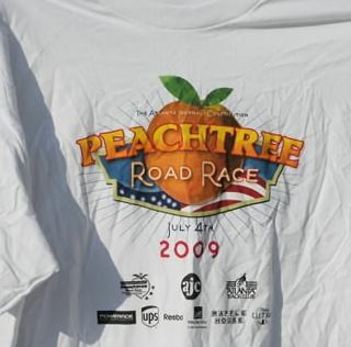 Peachtree road race 2009 tshirt