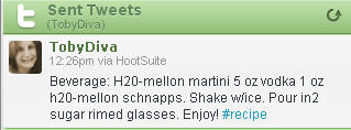Twitter recipe_ h20 mellon