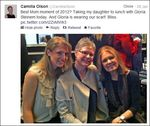 Camilla Olson and Gloria Steinem