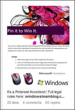 Microsoft Pin It To Win It Sweepsake