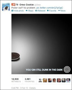 Oreo Superbowl Lights Go Out