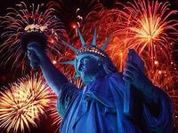 Fourth of July lady Liberty