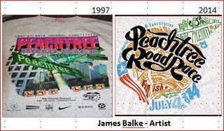 Peachtree road race t shirt 1997 2014